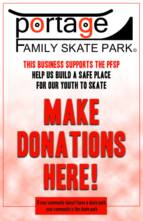 Donation Jar Locations: Red Apple, Pizza Hut, Wilz Drug, Golden Cup 2, Ideal Vapor, Papa Murphy's, La-Tolteca, The Barber Shop, Cathey Gardens, Blau Family Chiropractic, Malone's blarney Stone, Prairie Flower Beads, JJ Fireball Lanes, Johnson Sausage shop Rio, Pohlk's Pub, Mark's Market Rio, Walsh's Ace Hardware & Rental of Portage, Portage Police Department, Big Dog's, Caddy Shack, Northern Exposure Salon, Elk's Lodge #675, Paula's Place, Big Chicken, US Cellular Portage and Dairy Queen.