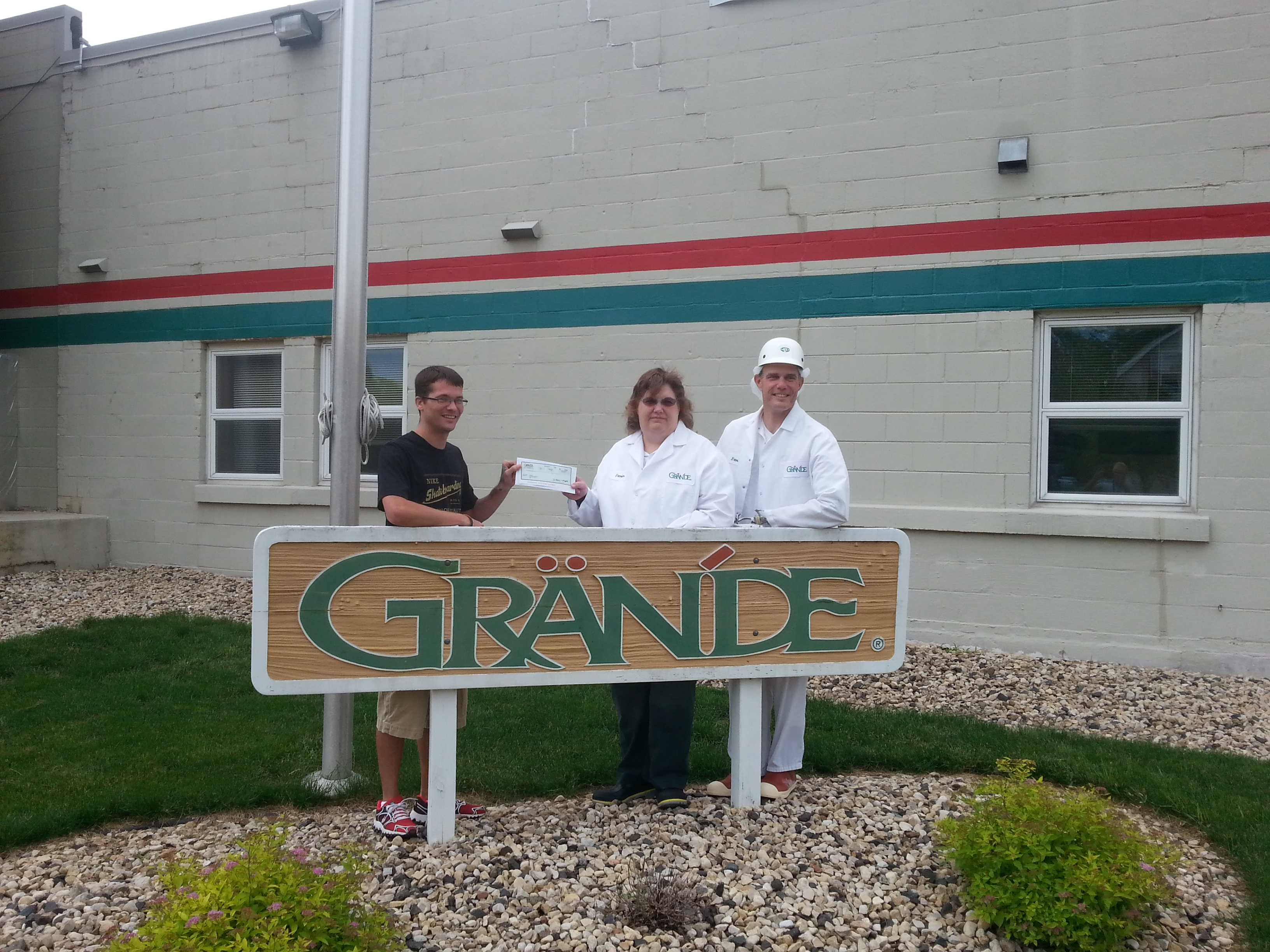 A SKATE big THANK YOU to Grande Cheese Company in Wyocena!!
