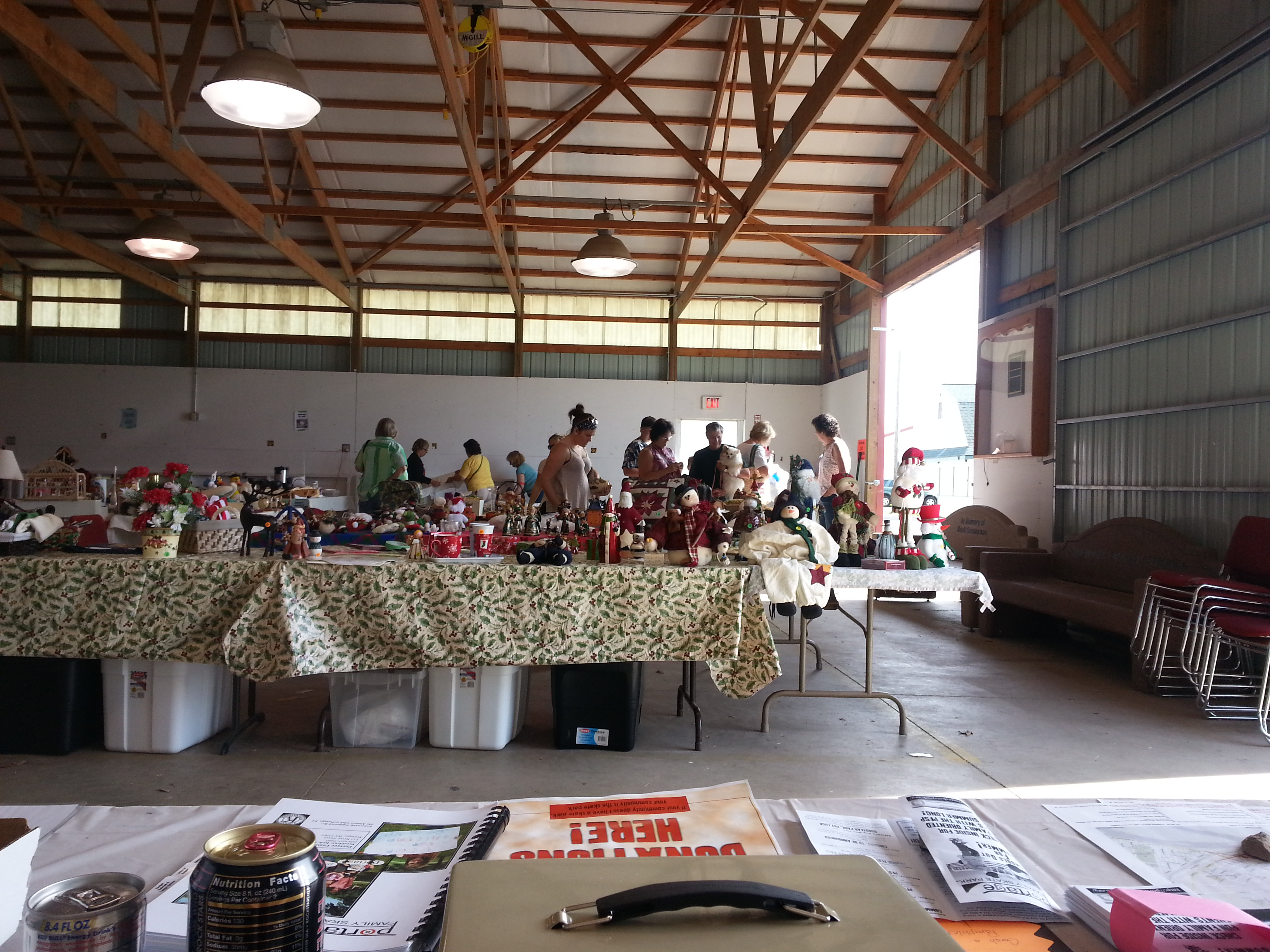 Portage Annual City Flea Market & Craft Show cooking up with the PFSP.