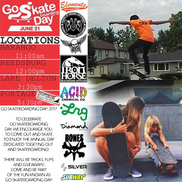 Go Skateboarding Day 2017 @Portagesk8park!
